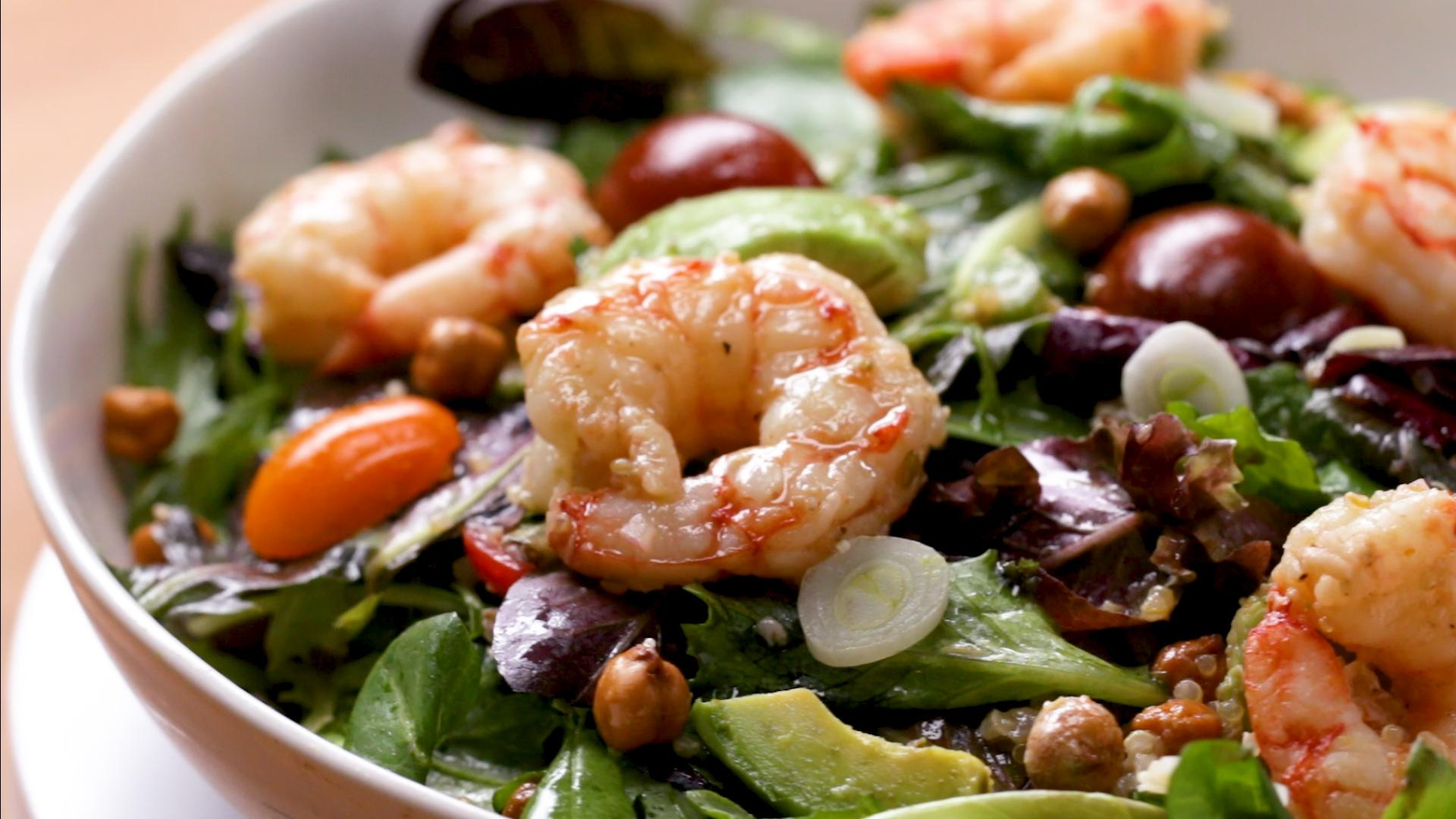 seared shrimp and avocado salad recipe