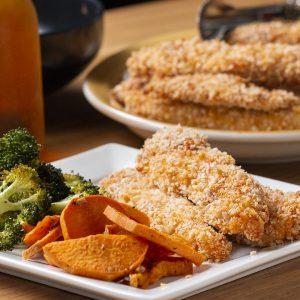 Sheet-Pan Crispy Chicken Strips And Veggies Recipe