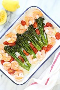 Sheet Pan Shrimp with Broccolini and Tomatoes Recipe