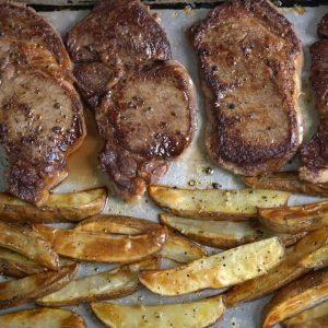 Sheet Pan Steak and Fries Recipe