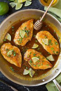 Skillet Honey-Lime Chicken Recipe