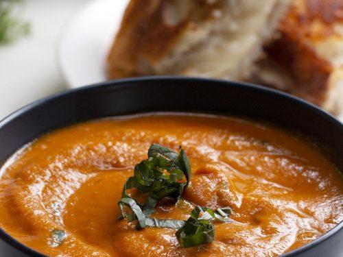 slow-cooker roasted tomato basil soup recipe