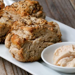 Soda Bread Scones With Irish Whiskey Butter Recipe