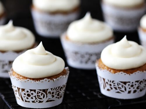 spiced butternut squash cupcakes with maple cream cheese frosting recipe