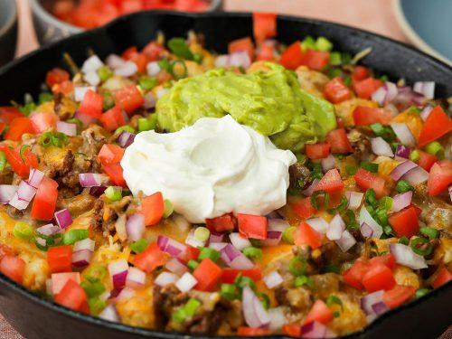 spicy beef totchos recipe