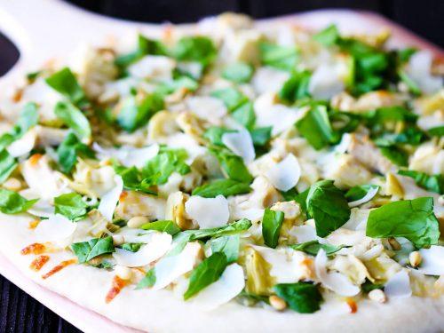 spinach artichoke chicken pizza recipe
