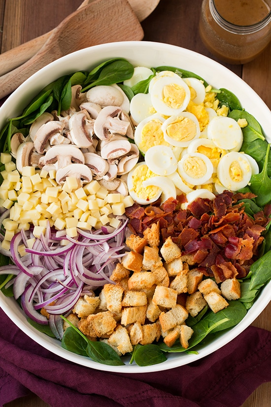 Spinach Salad with Warm Bacon Dressing Recipe