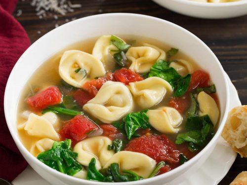 spinach tomato tortellini soup recipe