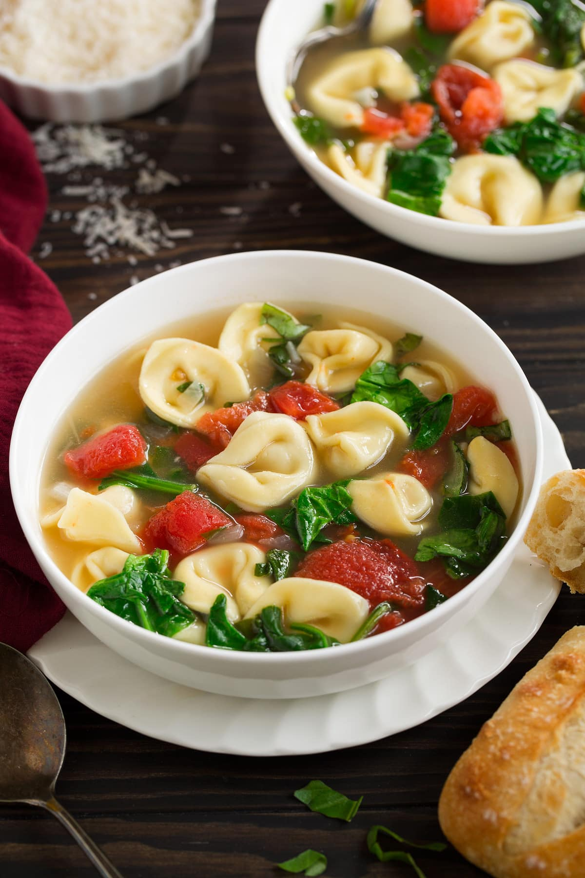 Spinach Tomato Tortellini Soup Recipe