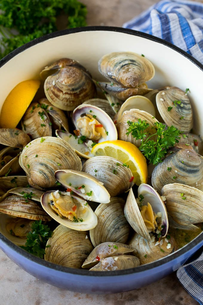 Steamed Clams with Garlic Butter Recipe