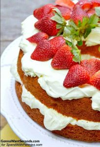 Strawberries and Cream Cake Recipe