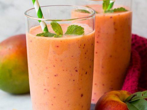 strawberry mango peach smoothie recipe