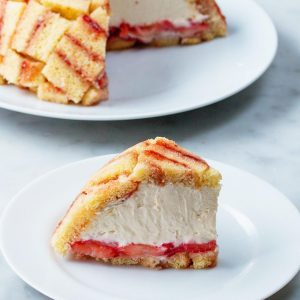 Strawberry Shortcake Cheesecake Dome (Charlotte Royale) Recipe