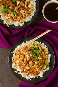 Teriyaki Grilled Chicken and Veggie Rice Bowls Recipe