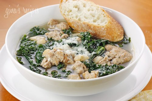 Turkey Sausage, Kale and White Bean Soup Recipe