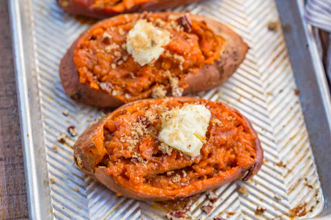 Baked Sweet Potatoes with Pecans Recipe