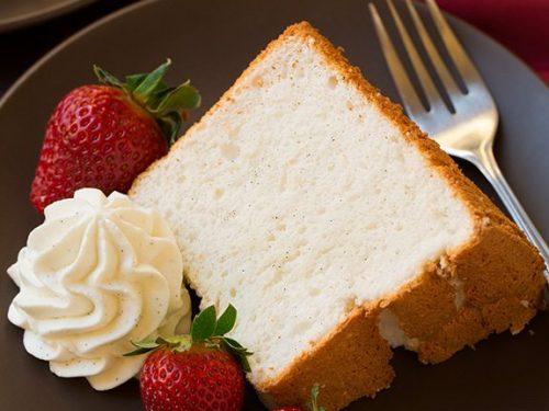 vanilla bean angel food cake recipe