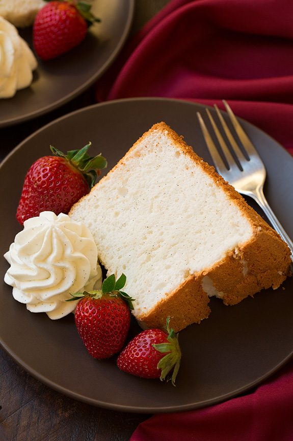 Vanilla Bean Angel Food Cake Recipe