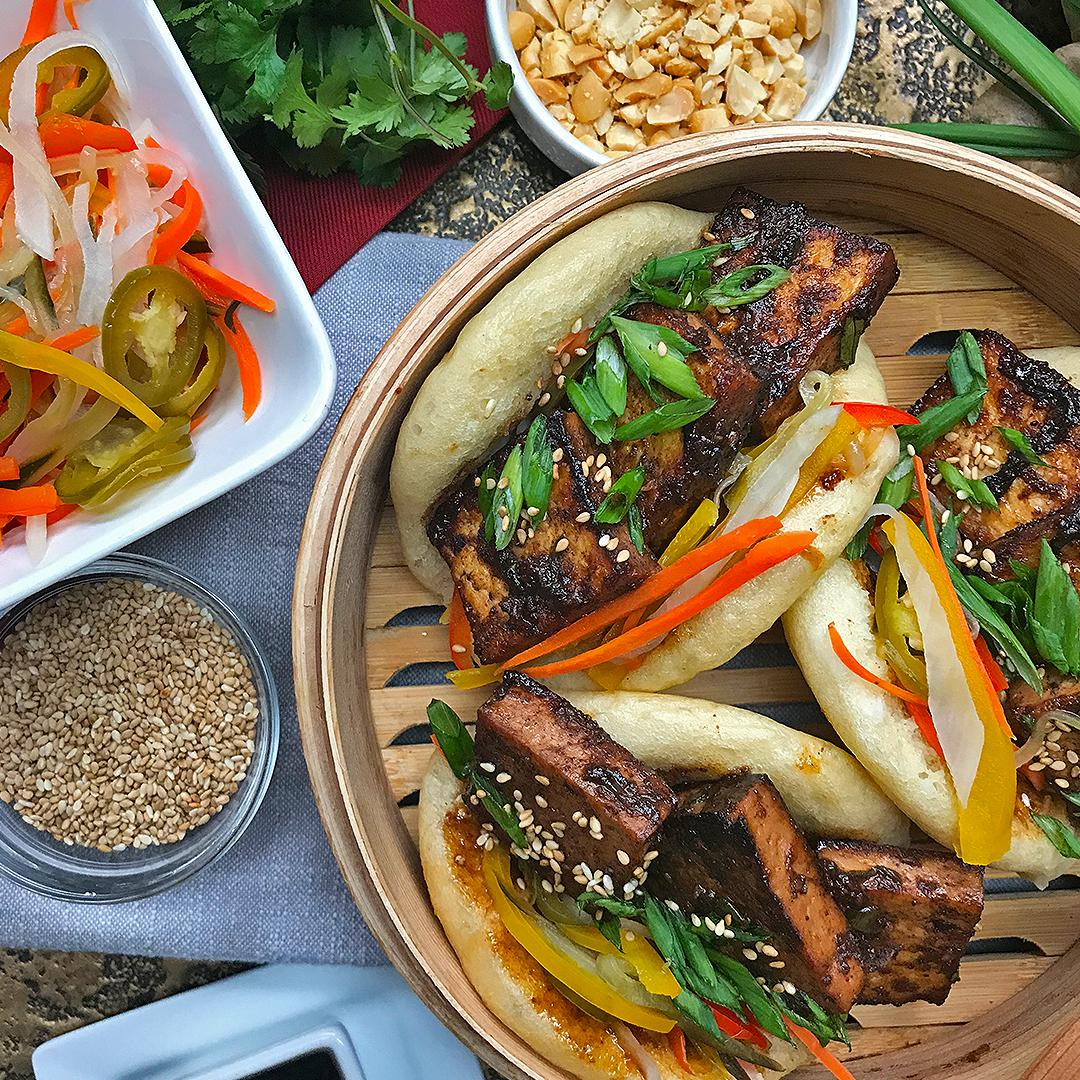 Tofu Bao Buns With Pickled Vegetables Recipe