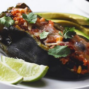 Black Bean Quinoa Stuffed Poblano Peppers Recipe