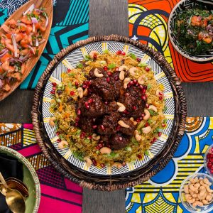 Wakandan Jeweled Vegetable Pilau With Berbere Braised Lamb Recipe