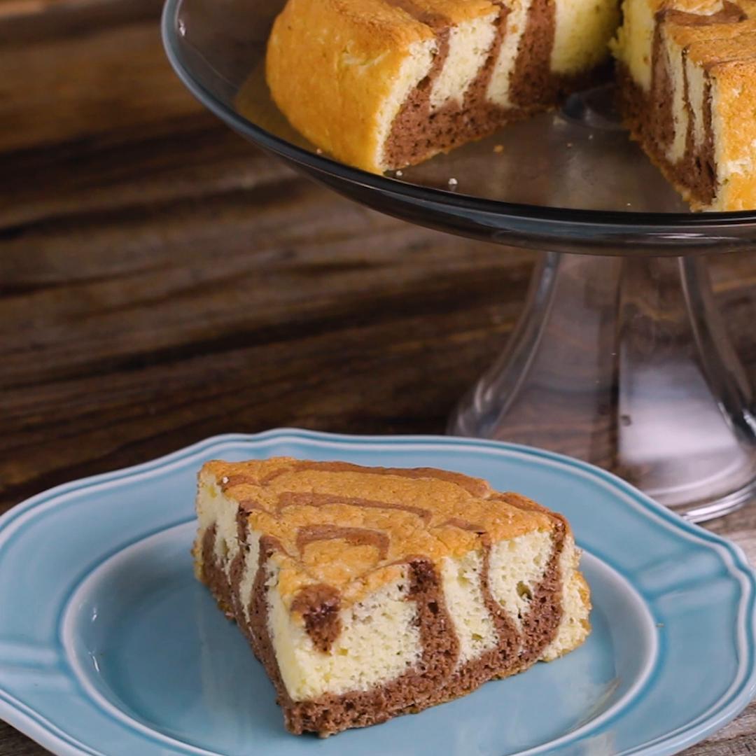 Zebra Sponge Cake Recipe