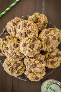 Oatmeal Zucchini Cookies with Chocolate Chip Recipe