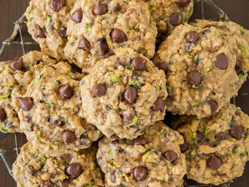 zucchini oatmeal chocolate chip cookies recipe