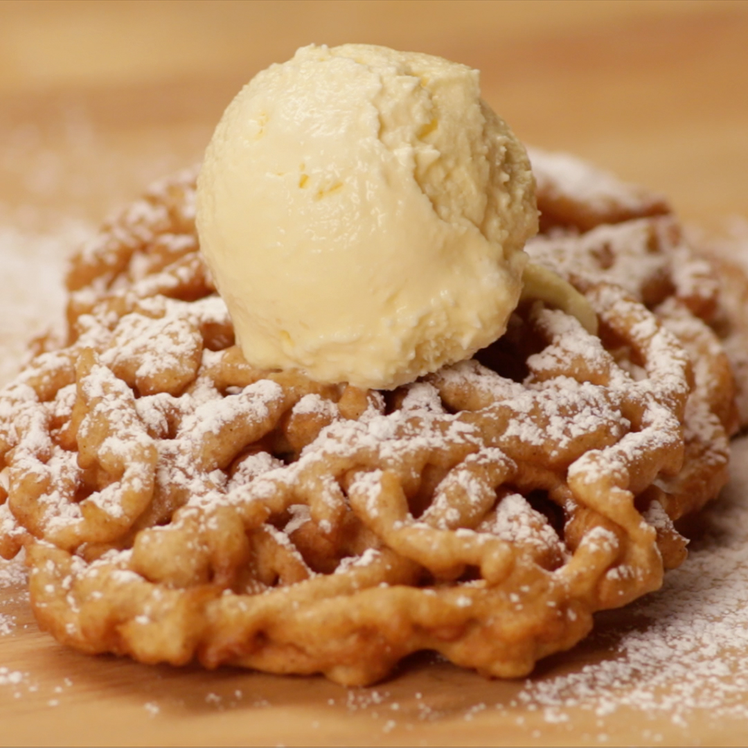 Apple Cider Funnel Cake Recipe