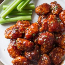 Baked Honey BBQ Popcorn Chicken Recipe