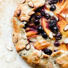 Blueberry Peach Frangipane Galette Recipe