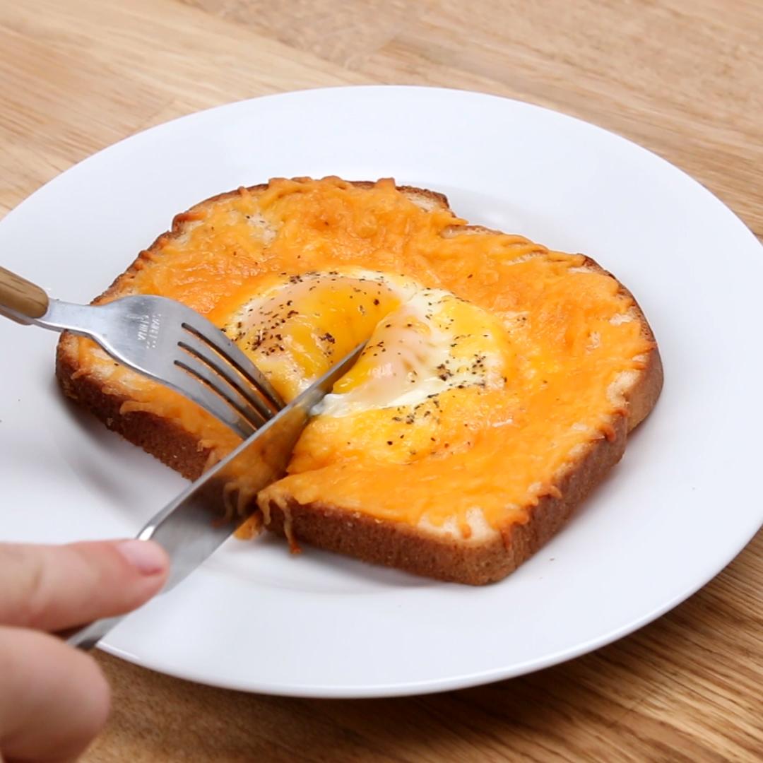Cheesy Egg Toast Recipe