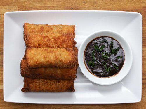 chicken & veggie spring rolls recipe