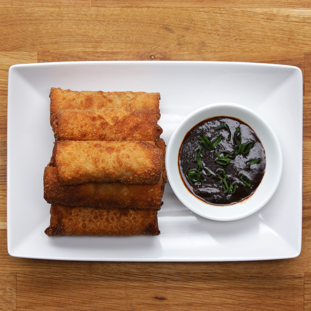 Chicken & Veggie Spring Rolls Recipe