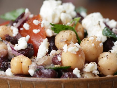 chickpea and black bean salad recipe