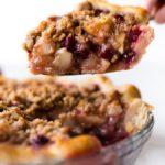 cranberry pear crumble pie recipe