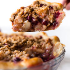 Cranberry Pear Crumble Pie Recipe