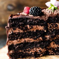 Dark Chocolate Mousse Cake Recipe