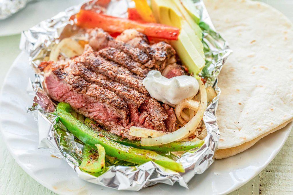easy grilled steak fajitas recipe