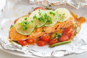 Easy Salmon Foil Packets with Vegetables Recipe
