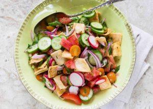 Fattoush Bread Salad Recipe