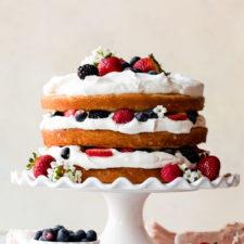 Fresh Berry Cream Cake Recipe