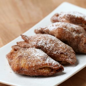 Fried Cinnamon Roll Apple Turnovers Recipe