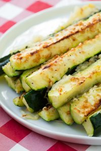 Garlic Lemon Oven Roasted Zucchini Recipe