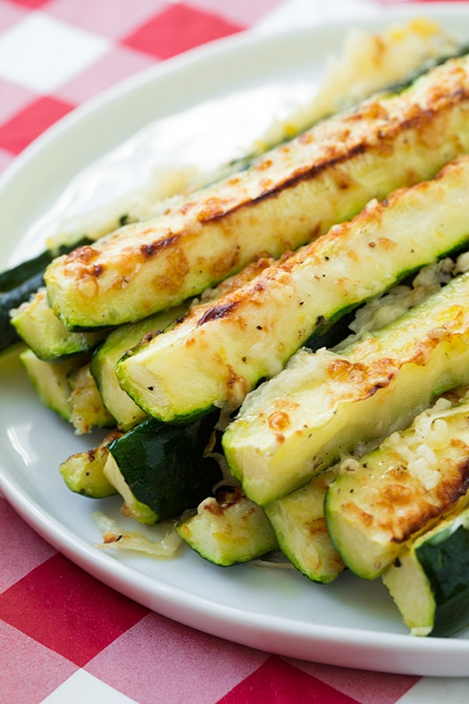 Garlic Lemon Oven Roasted Zucchini Recipe