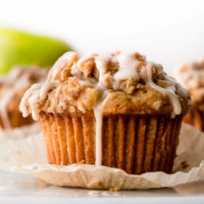 Glazed Apple Crumb Muffins Recipe