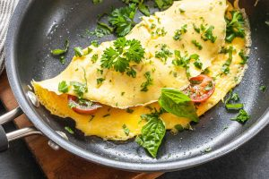 Omelette Cheese Tomato Recipe
