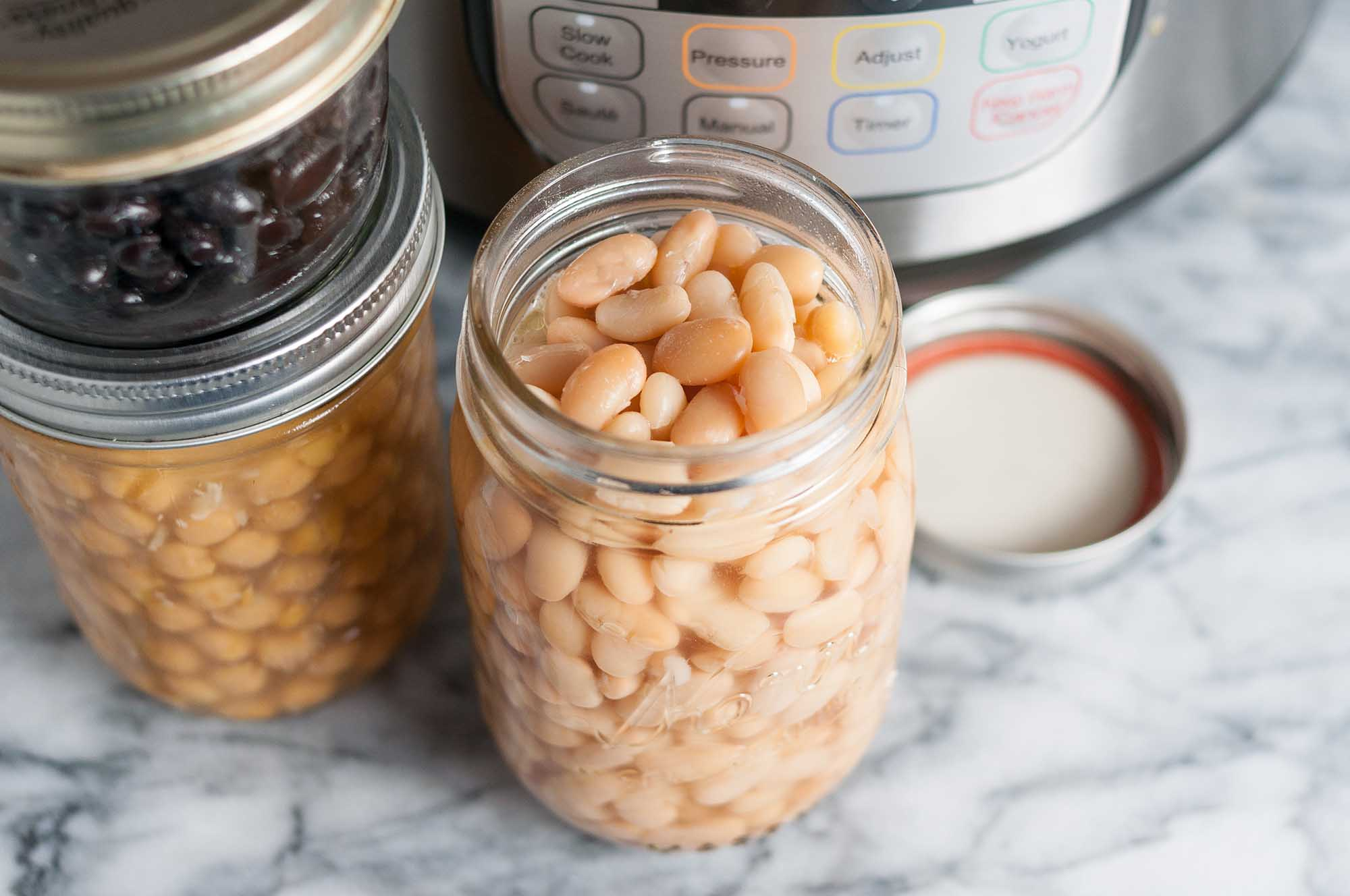 how to make fast, no-soak beans in the instant pot recipe