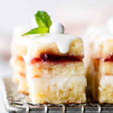 Lemon Berry Petit Fours Recipe