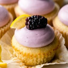 Lemon Cupcakes with Blackberry Cream Cheese Frosting Recipe